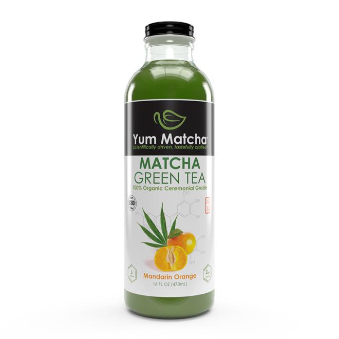 Mandarin Orange Flavored Matcha Tea with CBD