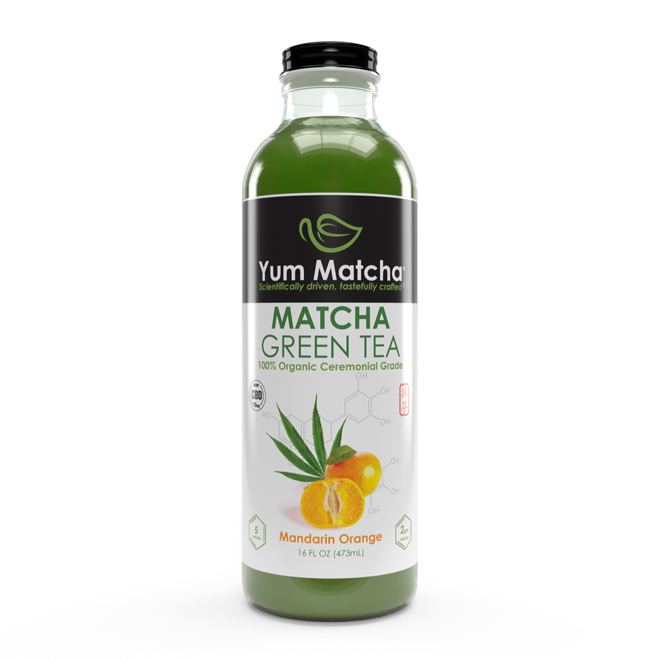 Mandarin Orange Flavored Matcha Tea with CBD