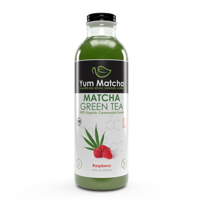 Raspberry Flavored Matcha Tea with CBD