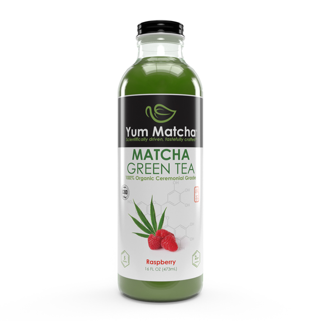 Raspberry Flavored Matcha Tea with CBD