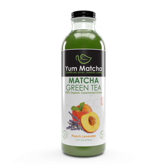Peach Lavender Flavored Matcha Tea