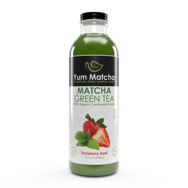 Strawberry Basil Flavored Matcha Tea