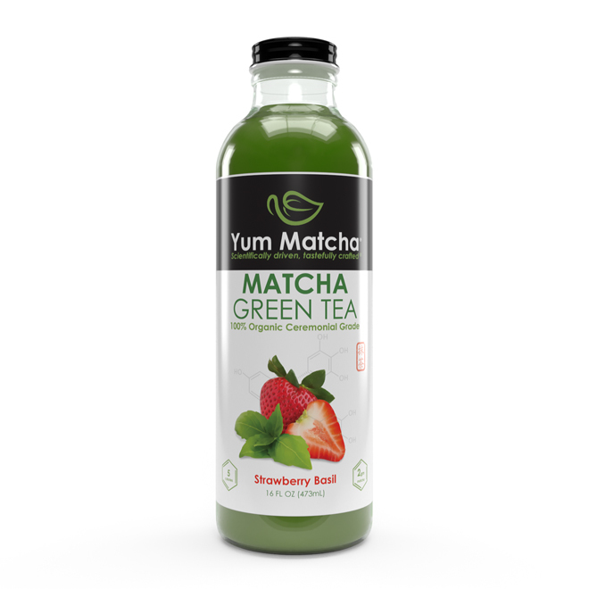 Strawberry Basil Flavored Matcha Tea